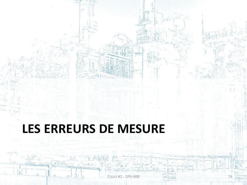 LES ERREURS DE MESURE Cours #1 - GPA-66874