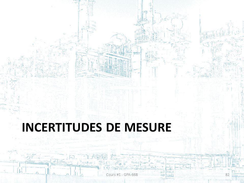 INCERTITUDES DE MESURE Cours #1 - GPA-66882