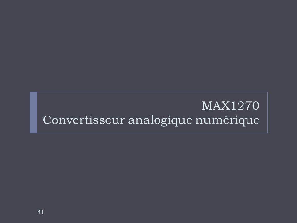 MAX1270 Convertisseur analogique numérique 41