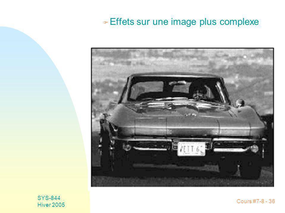 Cours #7-8 - 36 SYS-844 Hiver 2005 F Effets sur une image plus complexe