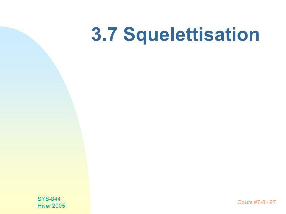 Cours #7-8 - 97 SYS-844 Hiver 2005 3.7 Squelettisation