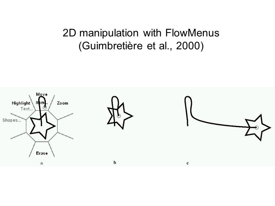 2D manipulation with FlowMenus (Guimbretière et al., 2000)