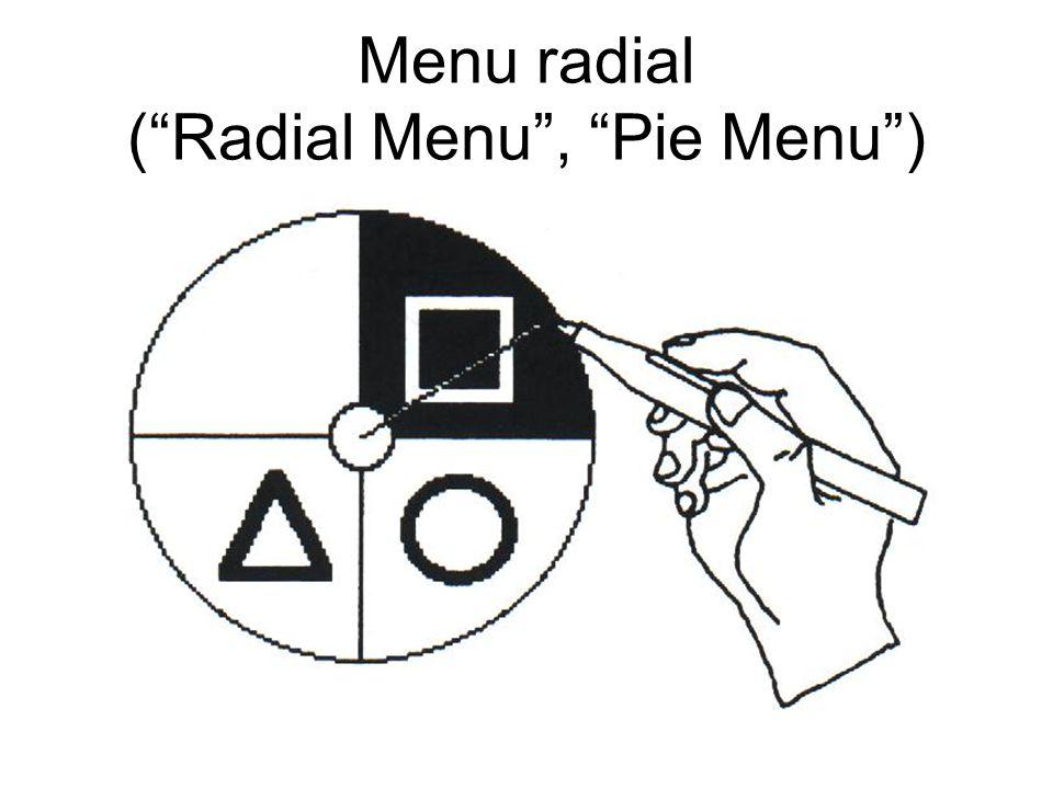 Menu radial (Radial Menu, Pie Menu)