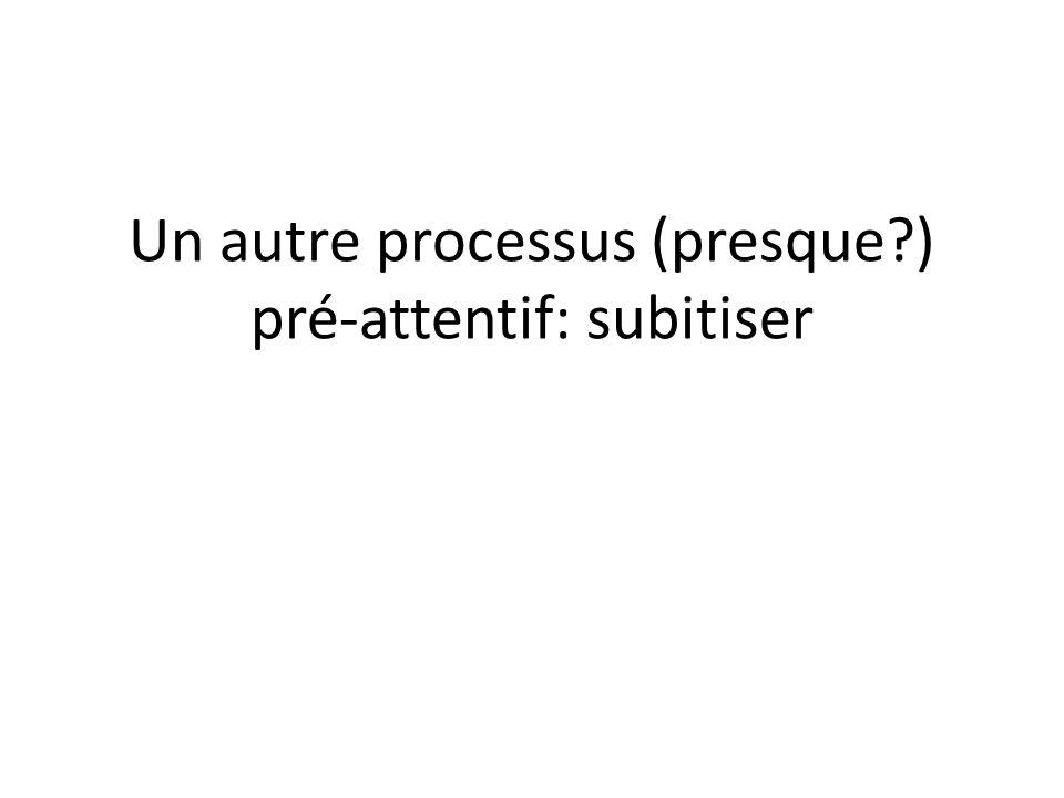 Un autre processus (presque?) pré-attentif: subitiser