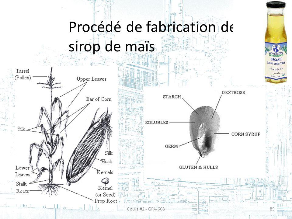 Procédé de fabrication de sirop de maïs 85Cours #2 - GPA-668