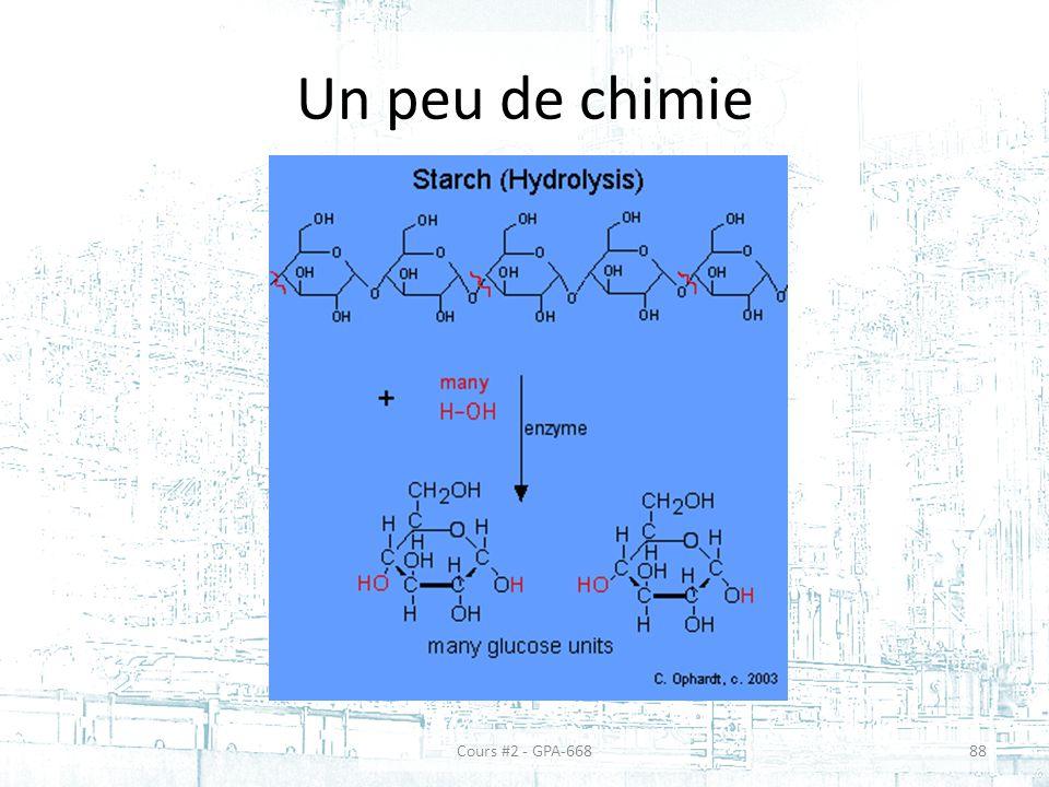 Un peu de chimie 88Cours #2 - GPA-668