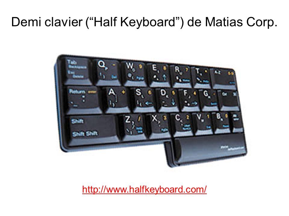 Demi clavier (Half Keyboard) de Matias Corp. http://www.halfkeyboard.com/