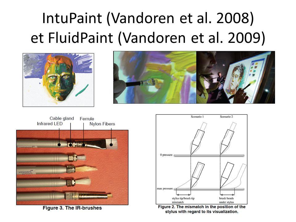 IntuPaint (Vandoren et al. 2008) et FluidPaint (Vandoren et al. 2009)