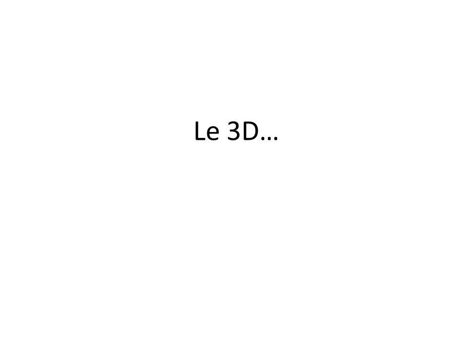 Le 3D…