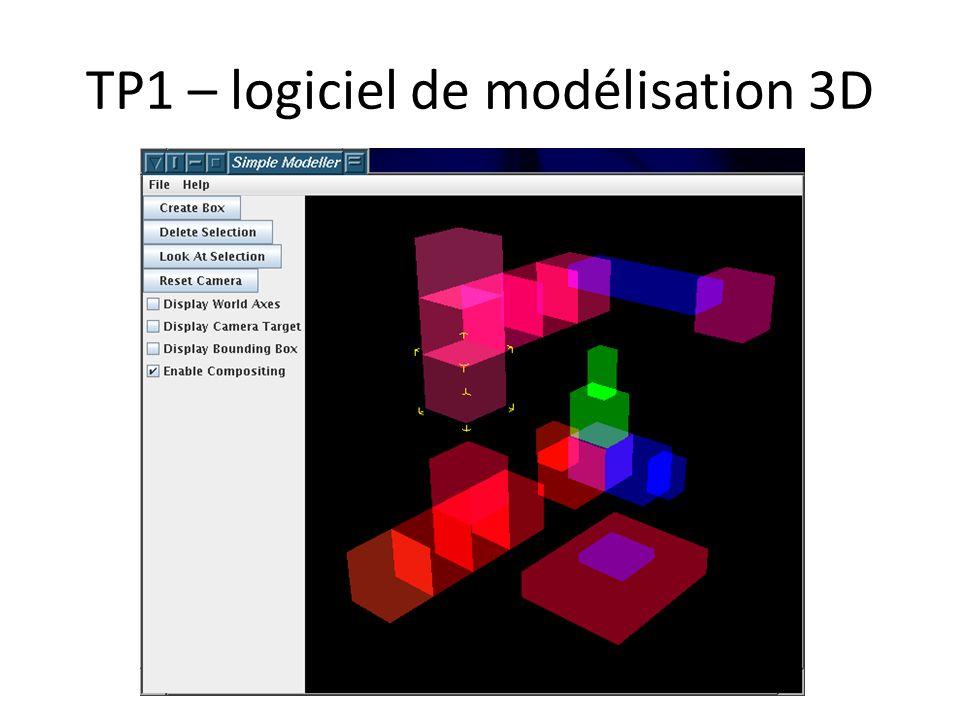 TP1 – logiciel de modélisation 3D
