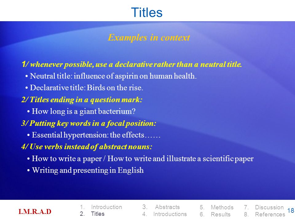 how to write the abstract of a paper presentation