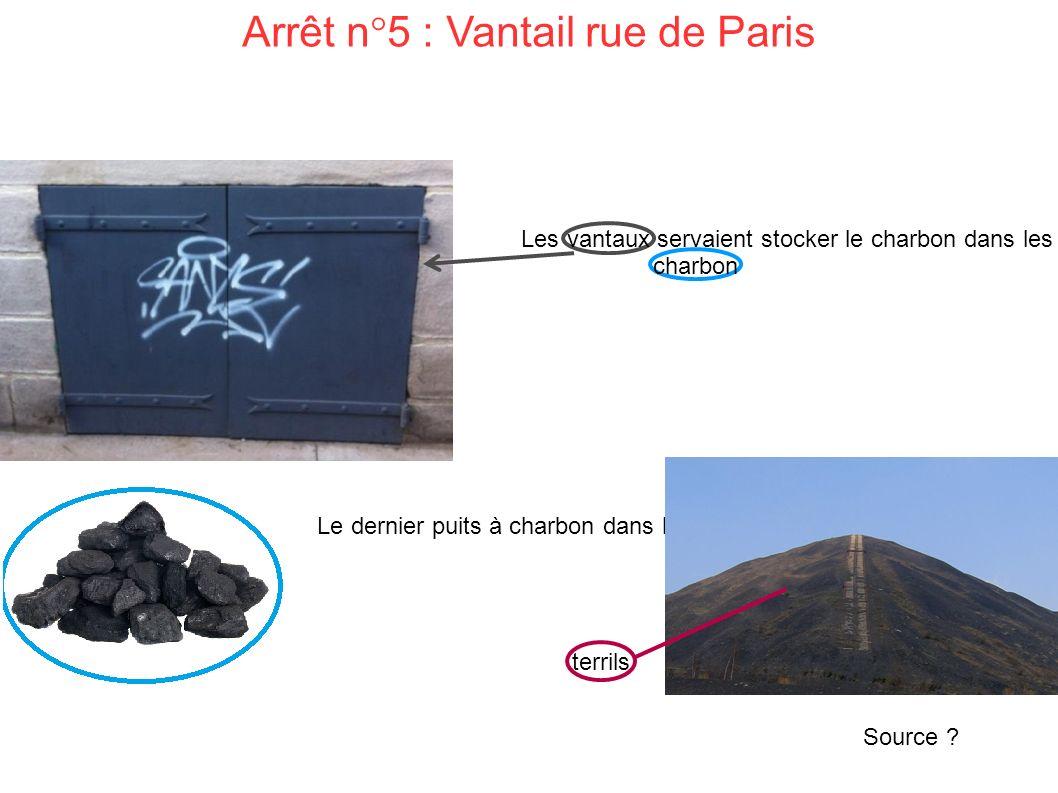 Arrêt n°5 : Vantail rue de Paris Les vantaux servaient stocker le charbon dans les caves.