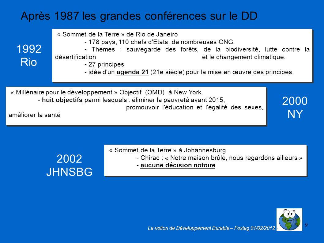 Fabuleux 1 La notion de Développement Durable De Brundtland à l'Éducation  UP64