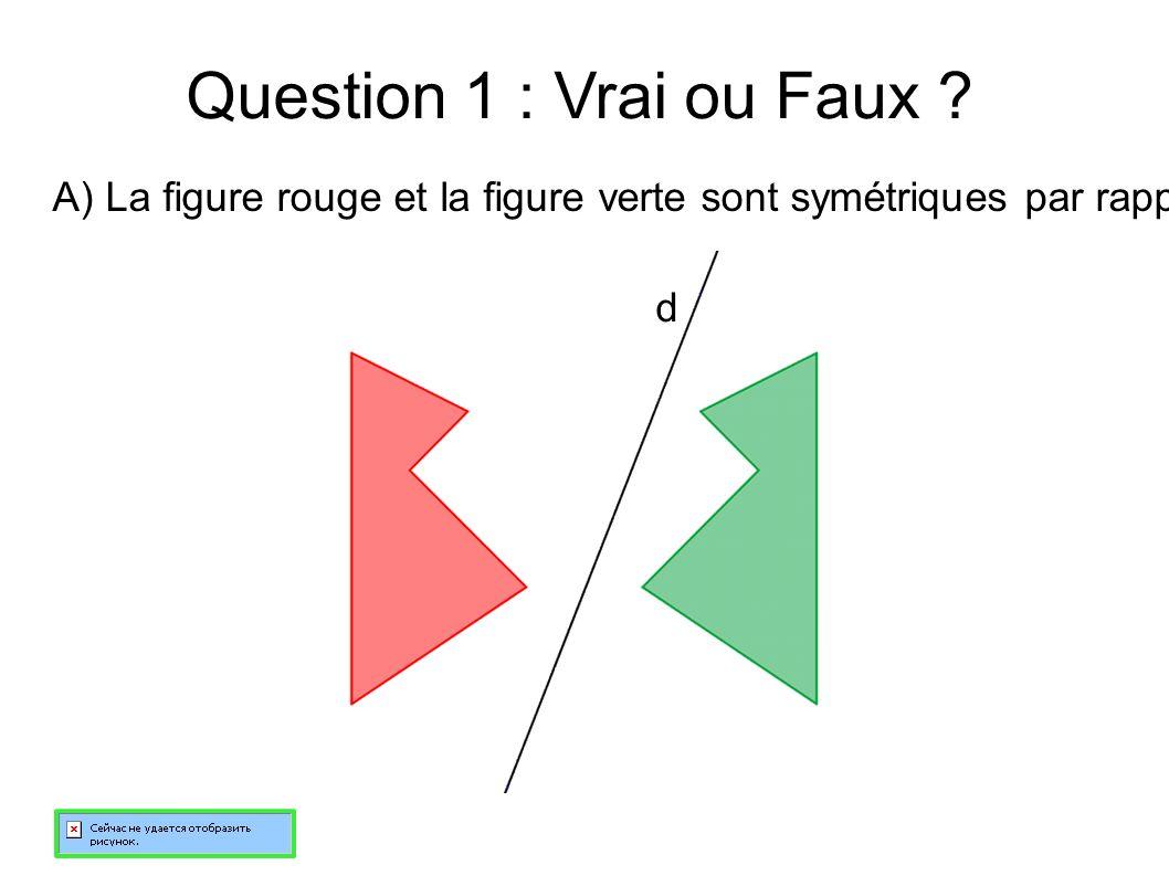 Question 1 : Vrai ou Faux .