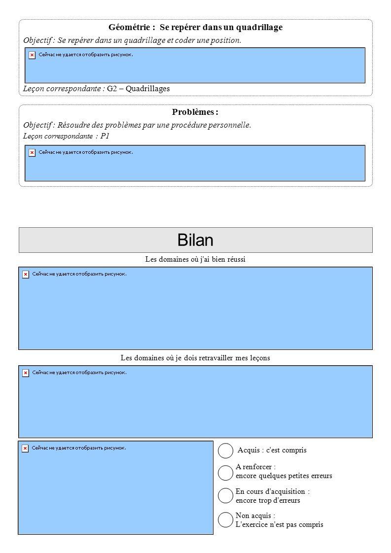 Problèmes : Objectif : Résoudre des problèmes par une procédure personnelle.