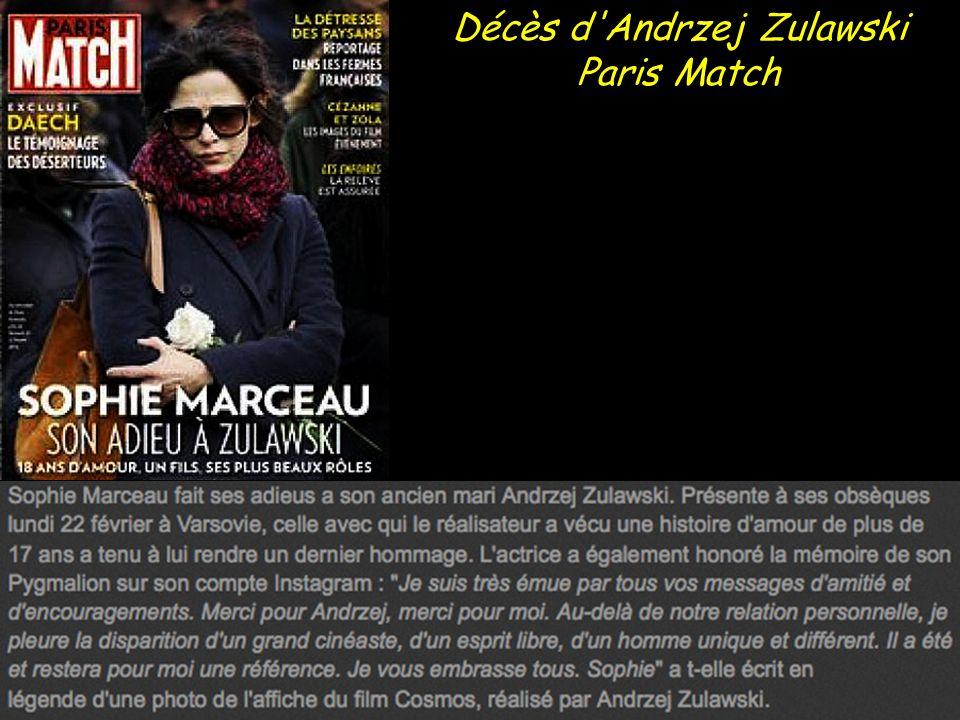 Sophie Marceau bouleversée par la mort d Andrzej Zulawski, son ex-mari Gala