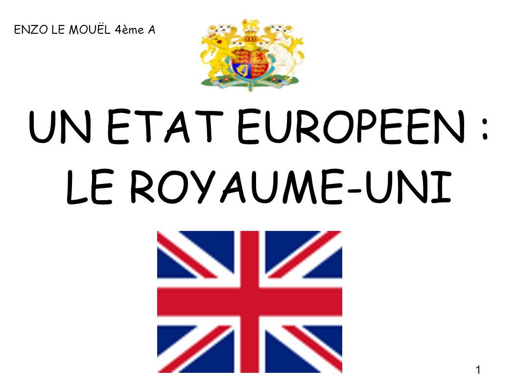 ENZO LE MOUËL 4ème A UN ETAT EUROPEEN : LE ROYAUME-UNI 1