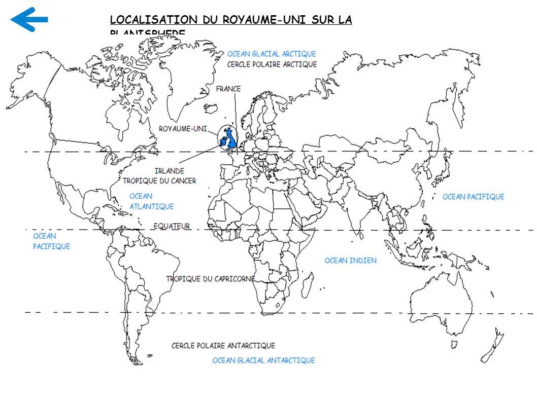 13 LOCALISATION DU ROYAUME-UNI SUR LA PLANISPHERE