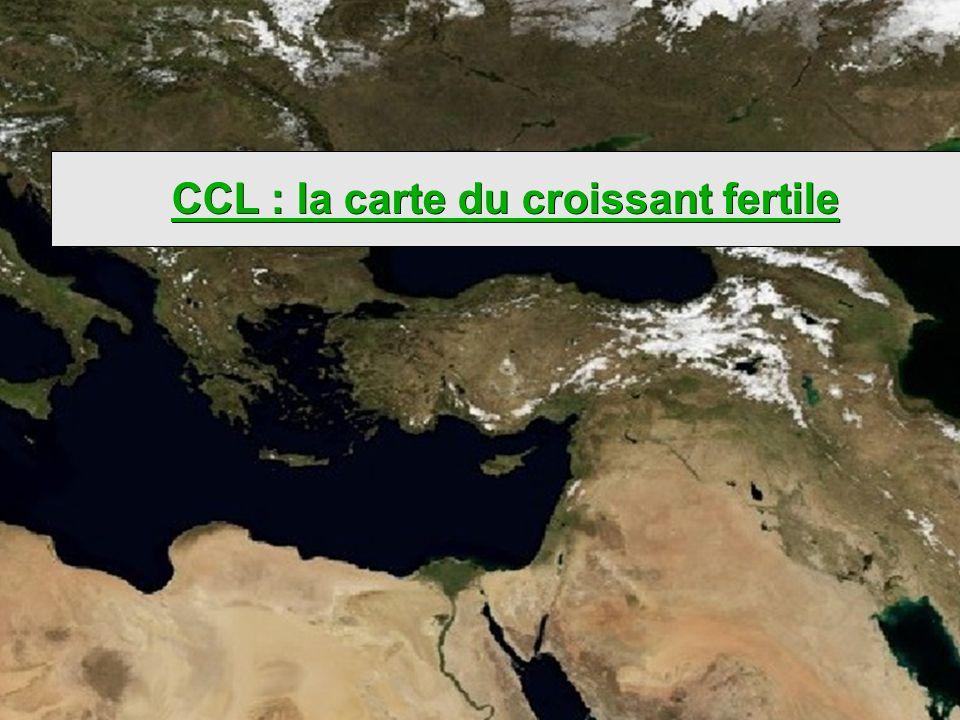 CCL : la carte du croissant fertile