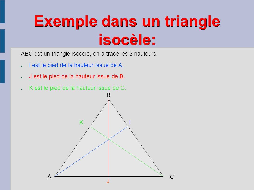 abc est un triangle