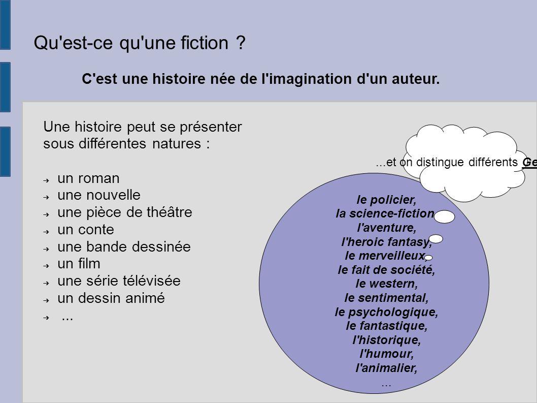 qu est ce qu une fiction c est une histoire ne de l imagination - Resume Roman Science Fiction