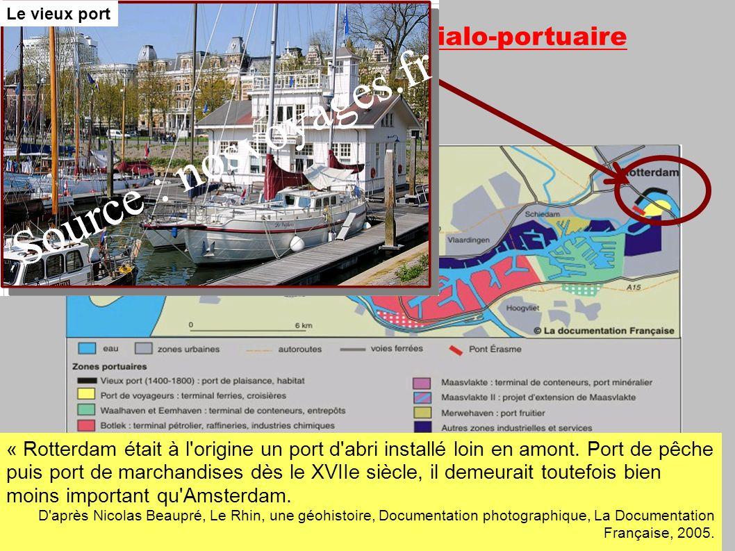 2- Un vaste espace industrialo-portuaire en constante évolution : « Rotterdam était à l origine un port d abri installé loin en amont.