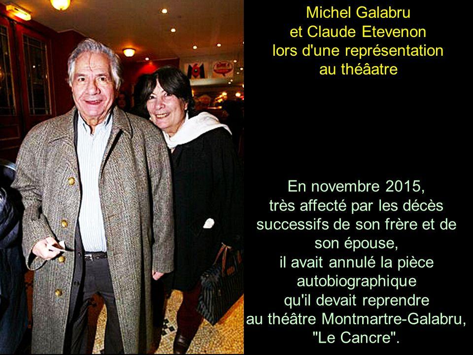 Michel Galabru et sa femme en vacances