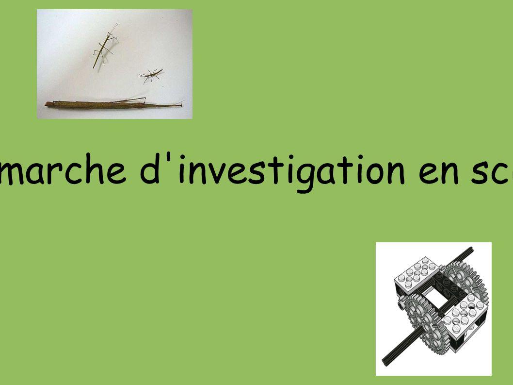 La démarche d investigation en sciences