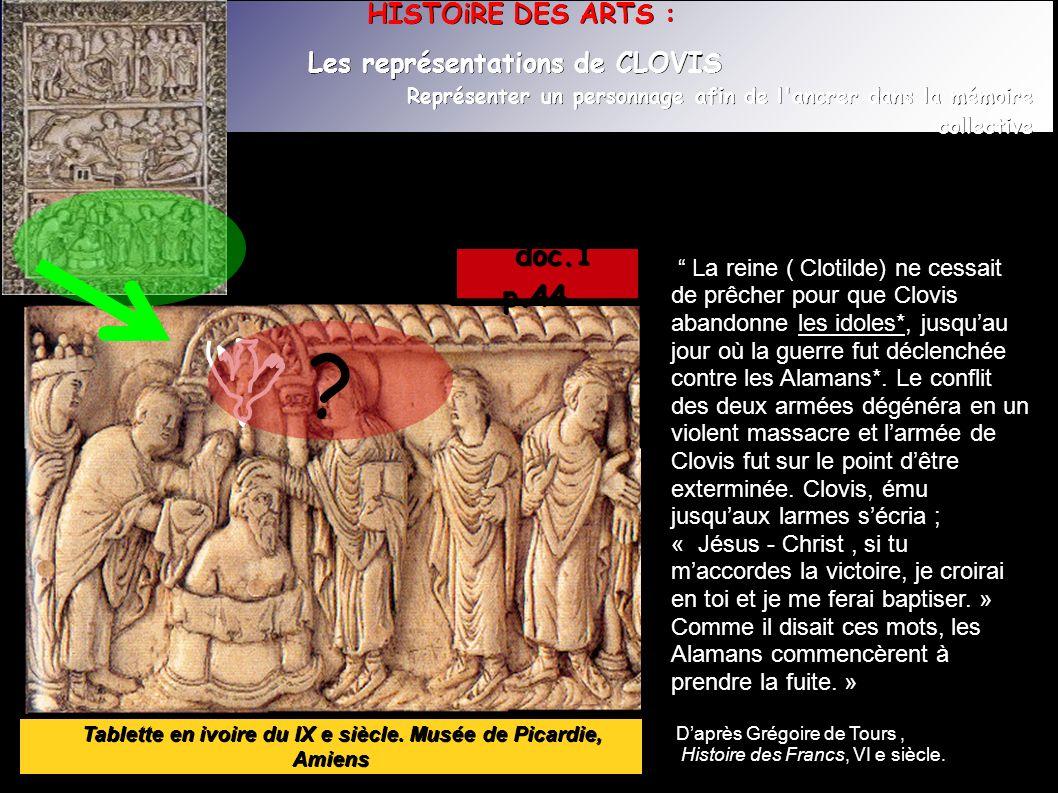 Tablette en ivoire du IX e siècle. Musée de Picardie, Amiens Tablette en ivoire du IX e siècle.