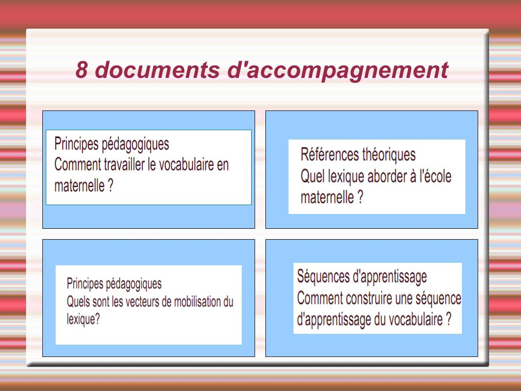8 documents d accompagnement