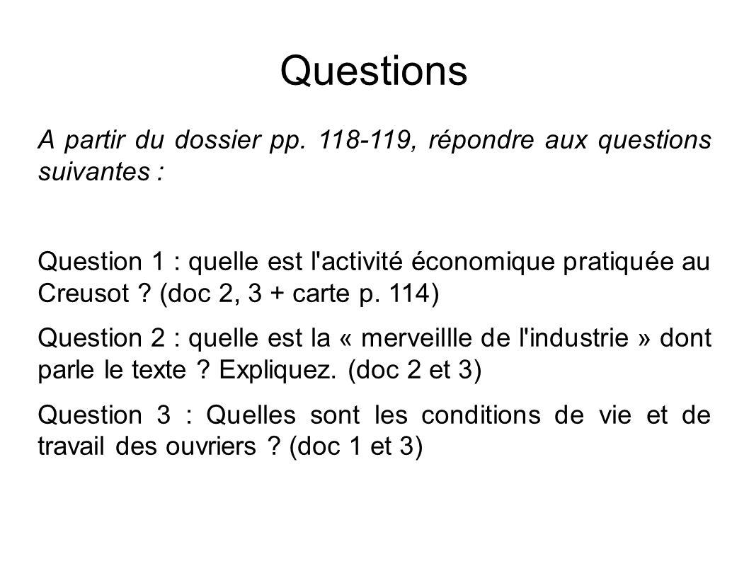 Questions A partir du dossier pp.