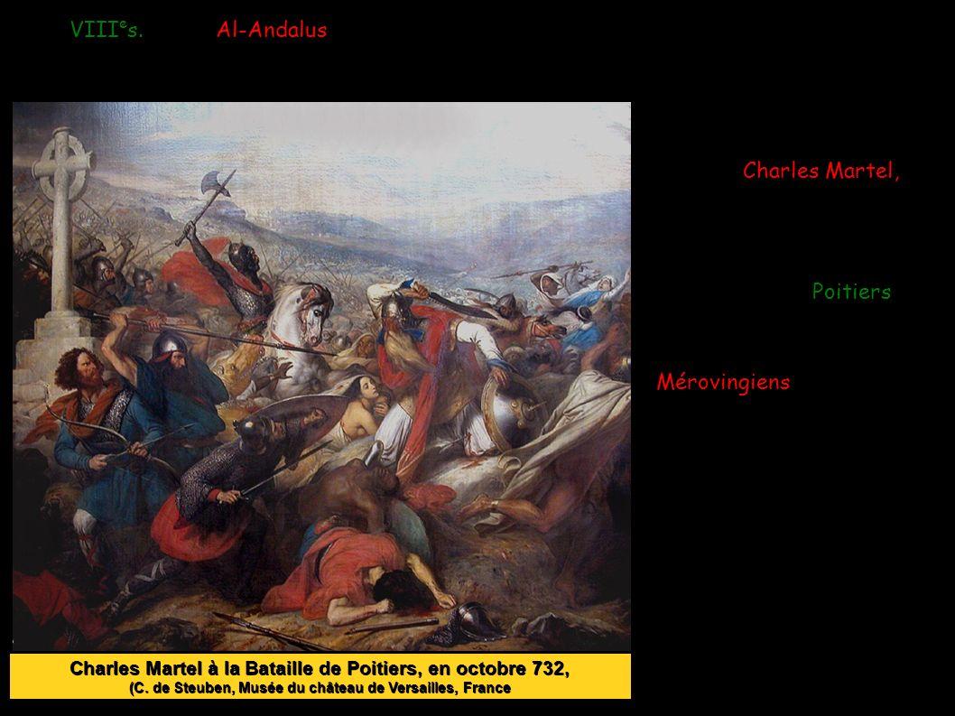 Charles Martel, le maire du palais ( ≈intendant, gouverneur) d'un roi mérovingien arrête les arabes près de Poitiers.