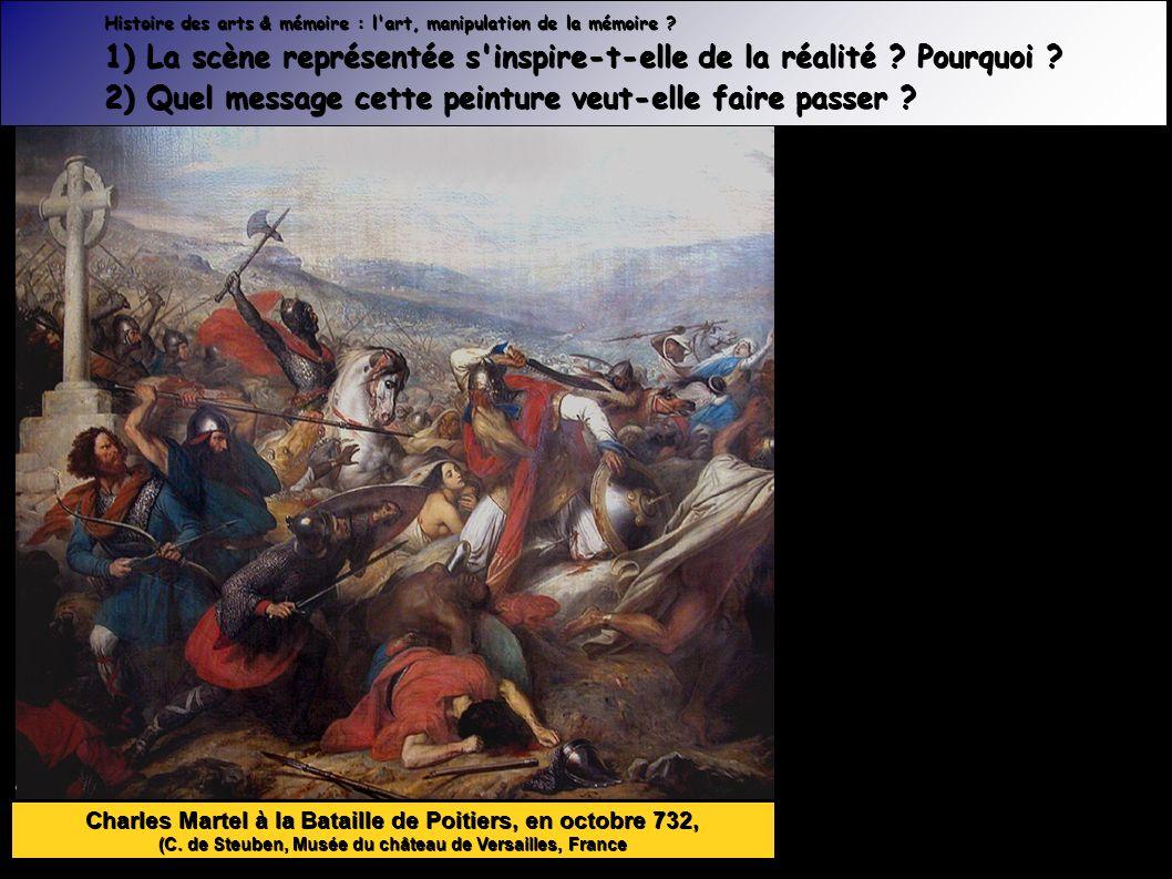 Charles Martel à la Bataille de Poitiers, en octobre 732, (C.