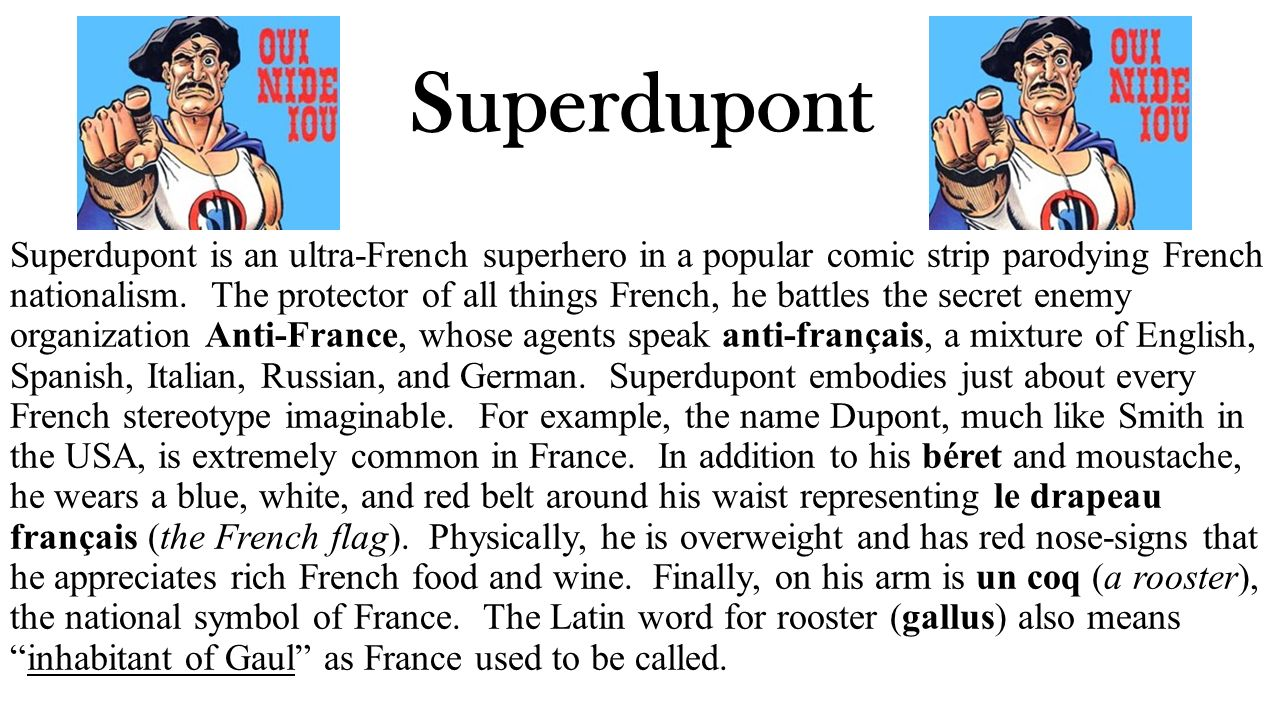 Superdupont is a superhero based entirely on french stereotypes - 8 Superdupont Superdupont Is An Ultra French Superhero