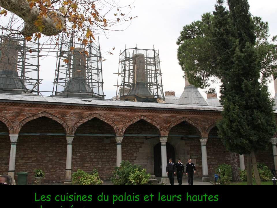 Les cuisines du palais et leurs hautes cheminées