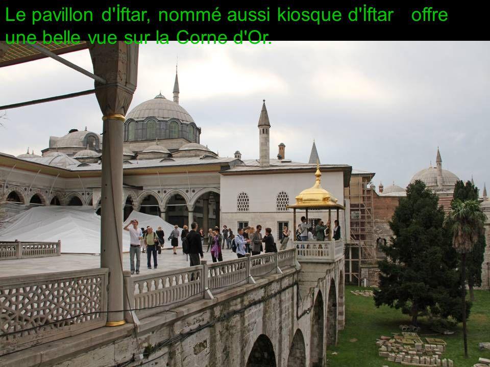 Le pavillon d İftar, nommé aussi kiosque d İftar offre une belle vue sur la Corne d Or.