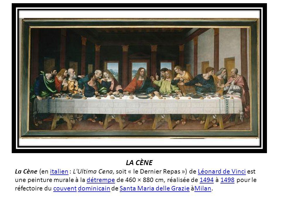 La Cène La Cène (En Italien : L'Ultima Cena, Soit « Le Dernier Repas