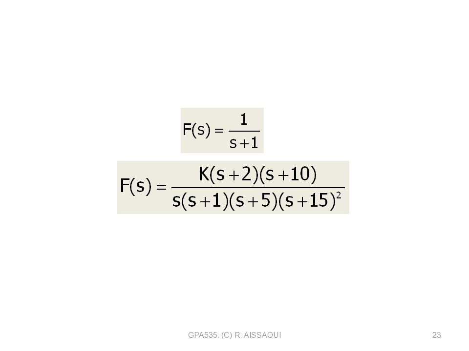 GPA535. (C) R. AISSAOUI23 EXEMPLE DE FONCTION COMPLEXE