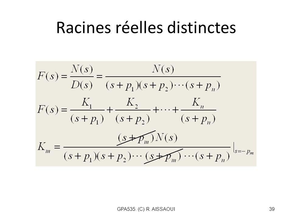 Racines réelles distinctes GPA535. (C) R. AISSAOUI39