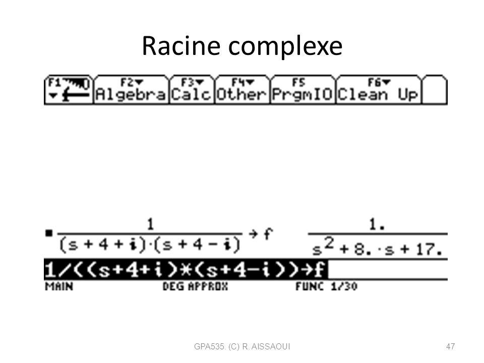 Racine complexe GPA535. (C) R. AISSAOUI47