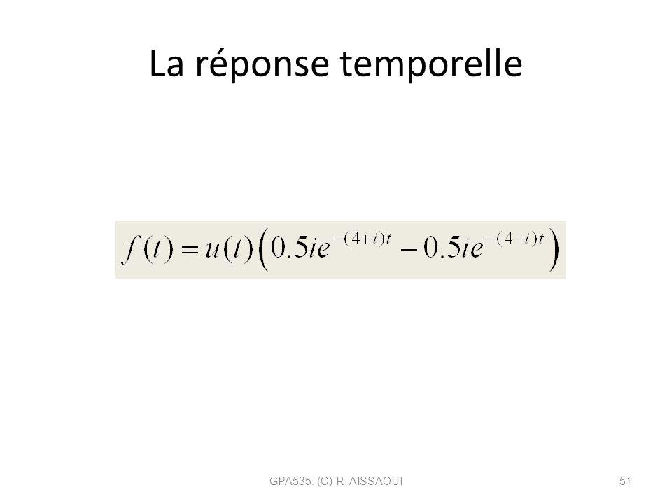 La réponse temporelle GPA535. (C) R. AISSAOUI51