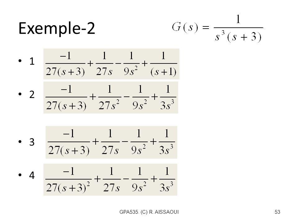 Exemple-2 1 2 3 4 GPA535. (C) R. AISSAOUI53