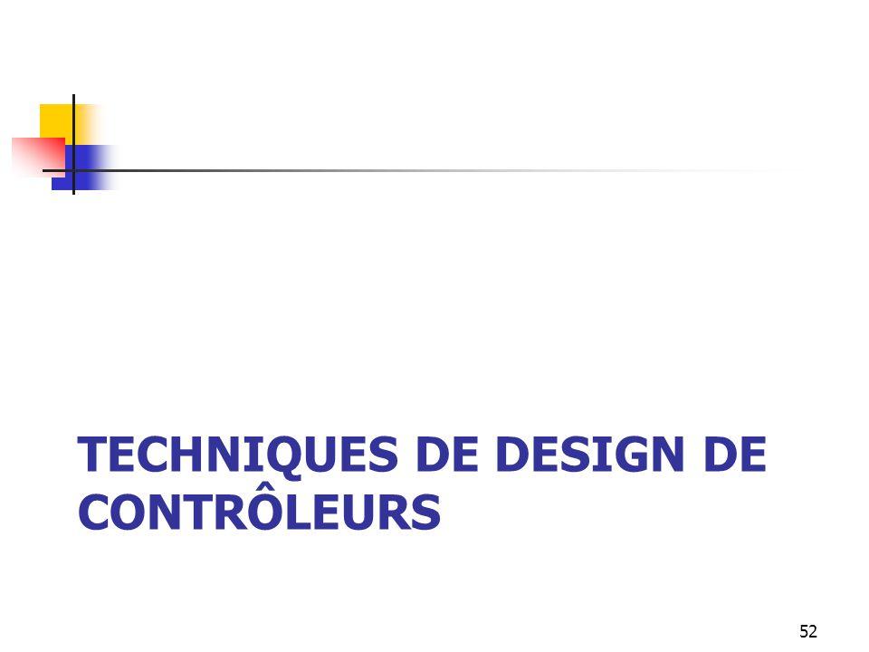 TECHNIQUES DE DESIGN DE CONTRÔLEURS 52