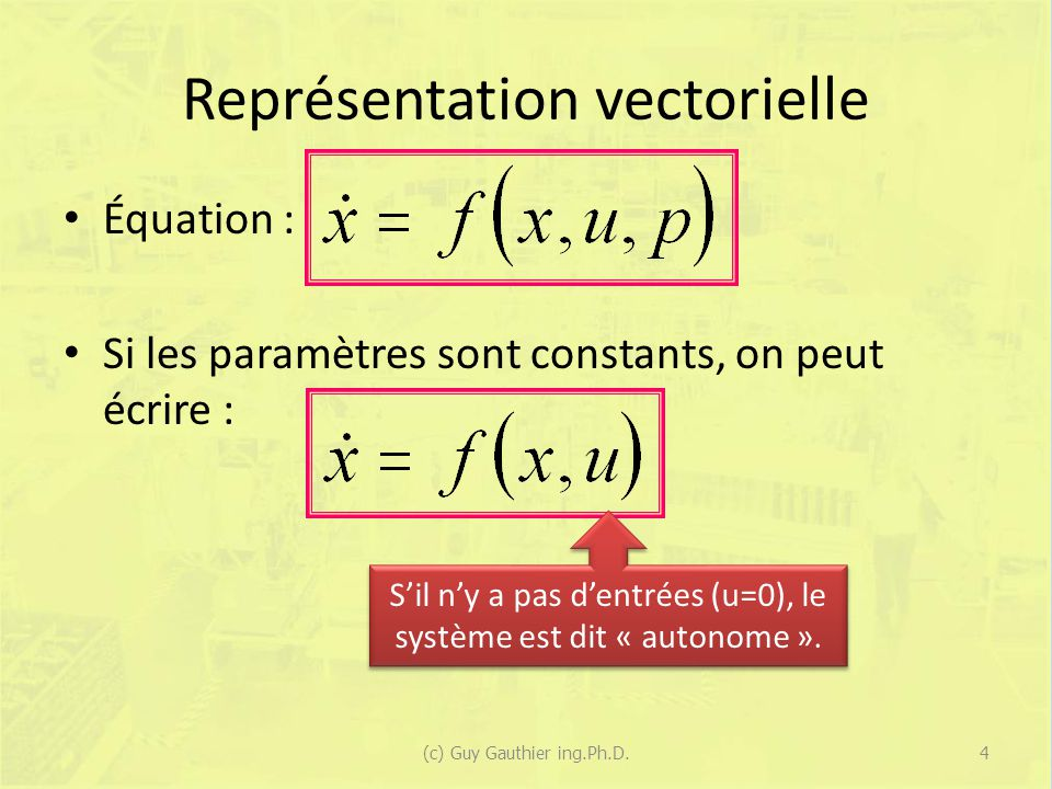 Exemple Si z(0) = [0 1] T : 65(c) Guy Gauthier ing.Ph.D.