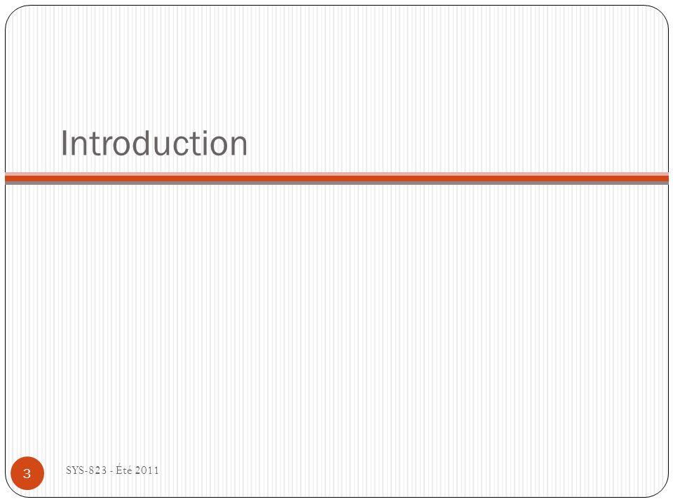 Pourquoi fait-on la modélisation .SYS-823 - Été 2011 Modèle (Thinès-Lemp.