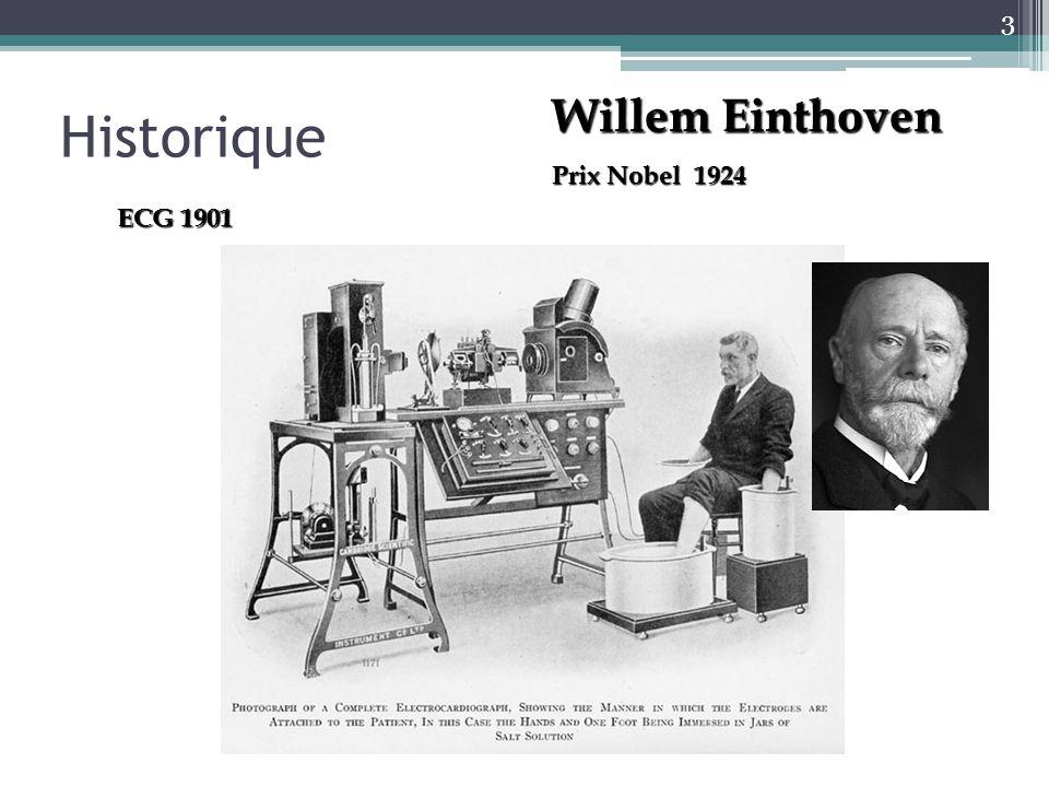 Historique Willem Einthoven Prix Nobel 1924 ECG 1901 3