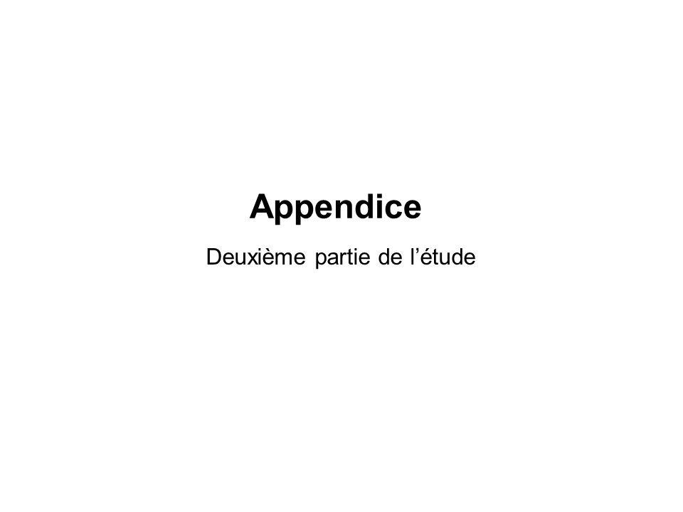 Deuxième partie de létude Appendice