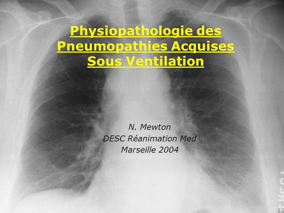 N. Mewton DESC Réanimation Med Marseille 2004 Physiopathologie des Pneumopathies Acquises Sous Ventilation