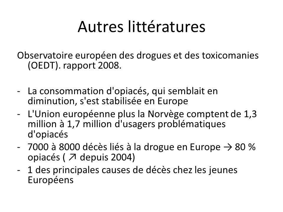Autres littératures Observatoire européen des drogues et des toxicomanies (OEDT).