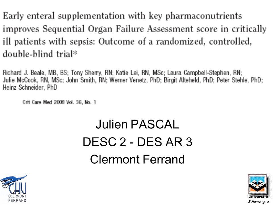 Julien PASCAL DESC 2 - DES AR 3 Clermont Ferrand
